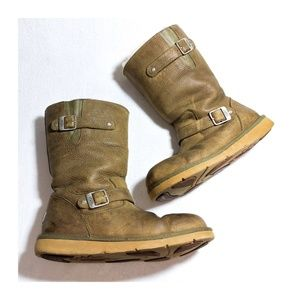 UGG Sutter Leather Sheepskin Boots 10M